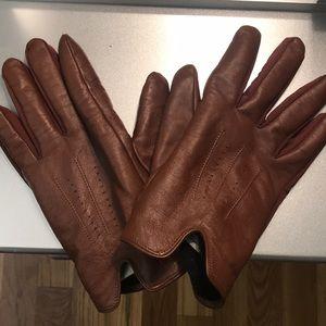 Other - Men's Genuine Leather Brown Gloves SZ L 🙌👏